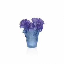 Rose Passion Blue Purple Vase Height 17 Cm | Gracious Style