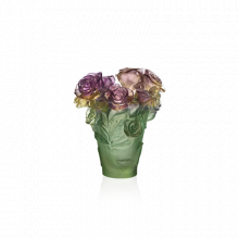Rose Passion Green & Pink Vase Height 17 Cm | Gracious Style