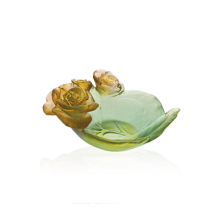 Rose Passion Green & Orange Small Bowl Length 12 Cm | Gracious Style