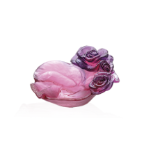 Rose Passion Red & Purple Small Bowl Length 13 Cm | Gracious Style