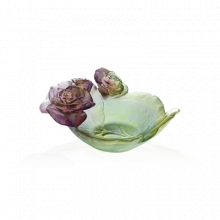 Rose Passion Green & Pink Small Bowl Length 12 Cm | Gracious Style
