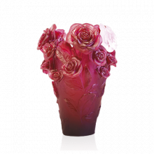 Rose Passion Red Vase & White Flower Height 35 Cm | Gracious Style