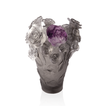 Rose Passion Grey & Purple Flower Vase Height 35 Cm | Gracious Style
