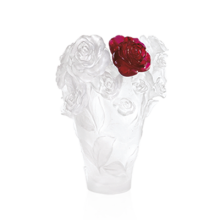 Rose Passion White Vase & Red Flower Height 35 Cm | Gracious Style