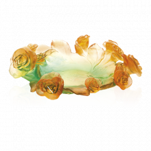 Rose Passion Green & Orange Bowl Height 9.5 Cm | Gracious Style