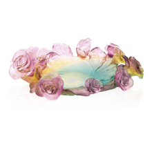 Rose Passion Green & Pink Bowl Height 9.5 Cm | Gracious Style
