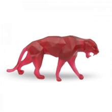 Richard Orlinski Small Red Wild Panther Length 33 Cm | Gracious Style
