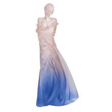 Marie-Paule Deville Chabrolle Blue Pink L'Hiver En Soi Height 70 Cm | Gracious Style