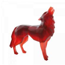 Richard Orlinski Red Wild Wolf Height 33 Cm | Gracious Style