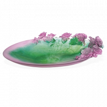 Rose Passion Pink & Green Magnum Bowl Length 61 Cm | Gracious Style