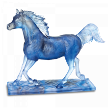 """Blue Grey """"Le Majestueux"""" Height 48 Cm 