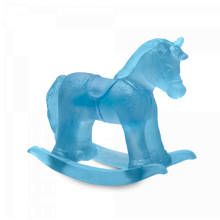 Blue Rocking Horse Height 14 Cm | Gracious Style