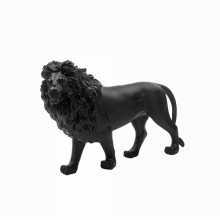 Black Sand Lion Height 23 Cm Length 33 Cm | Gracious Style
