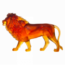 Amber Sand Lion Height 23 Cm Length 33 Cm | Gracious Style