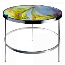 Imprevisible Aqua Blue Side Table Height 50 Cm Diam 61 Cm | Gracious Style
