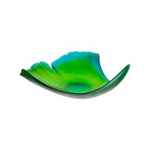 Ginkgo Green Large Leaf Bowl Height 13 Cm Length 33 Cm Length 34 Cm | Gracious Style