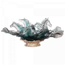 Blue Grey Cavalcade Centrepiece Height 31 Cm Length 67 Cm | Gracious Style