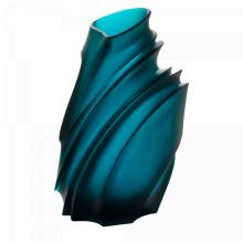Christian Ghion Large Blue Vase Height 36 Cm Length 24.5 Cm Length 19 Cm | Gracious Style