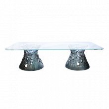 Vegetal Large Blue Grey Coffee Table Height 50 Cm Length 180 Cm | Gracious Style