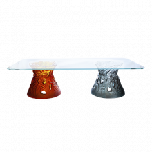 Vegetal Large Bicolored Coffee Table Height 50 Cm Length 180 Cm | Gracious Style