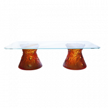 Vegetal Large Amber Coffee Table Height 50 Cm Length 180 Cm | Gracious Style