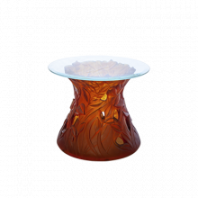 Vegetal Amber Side Table Height 50 Cm Diam 60 Cm | Gracious Style