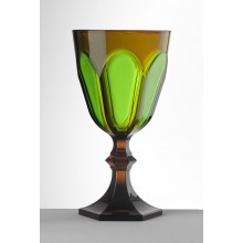 Palm Beach Amber/Green Water Goblet 6.75 in. High 9.0 oz. | Gracious Style