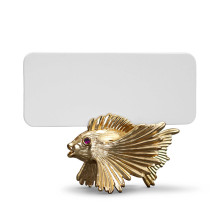 Fish Place Card Holder Gold Set of 6