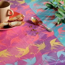 Mille Colibris Antilles Coated Stain-Resistant Damask Table Linens | Gracious Style