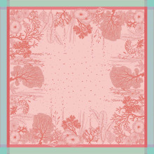 Corail Rose Green Sweet Stain-Resistant Damask Table Linens