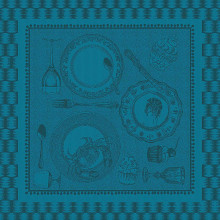 Entre Amis Bleu Canard Green Sweet Stain Resistant Table Linens | Gracious Style