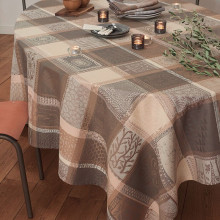 Mille Wax Argile Coated Stain-Resistant Damask Table Linens | Gracious Style
