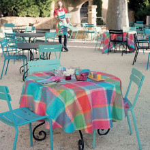 Mille Wax Cocktail Coated Stain-Resistant Damask Table Linens | Gracious Style