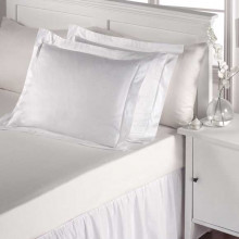Normandie Bed Linens, Microcheck 300TC White