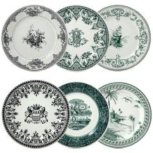 Les Depareillees Green Dinnerware | Gracious Style