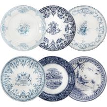 Les Depareillees Blue Dinnerware | Gracious Style