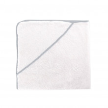 Contour Kids Hooded Towel 30 x 30 in Silver | Gracious Style