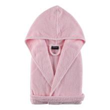 Bee Waffle Kids Hooded Bathrobe Pearl Pink | Gracious Style