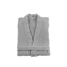 Bee Waffle Kimono Bathrobe Silver | Gracious Style