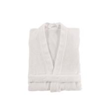 Bee Waffle Kimono Bathrobe White | Gracious Style