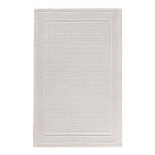 Bee Waffle Tub Mat 20 x 31 in White | Gracious Style