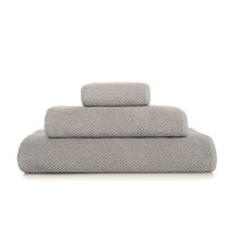 Bee Waffle Bath Towels Silver | Gracious Style