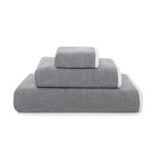 Double Tone Bath Towels Navy | Gracious Style