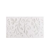Iris Bath Rugs White | Gracious Style