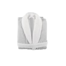 Linen Duo Shawl Collar Bathrobe White | Gracious Style
