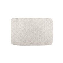 Long Double Loop Terry Tub Mat 20 x 31 in White | Gracious Style