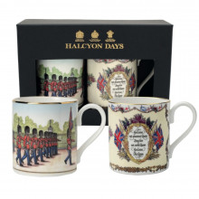 Changing the Guard & Vivat Regina Ivory Mug Gift Set of 2 | Gracious Style