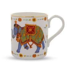Ceremonial Indian Elephant White Mug | Gracious Style