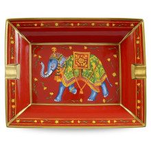 Ceremonial Indian Elephant Red Ashtray | Gracious Style