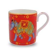 Ceremonial Indian Elephant Red Mug | Gracious Style